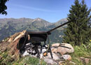 Archaic fire cooking tour in the wilderness